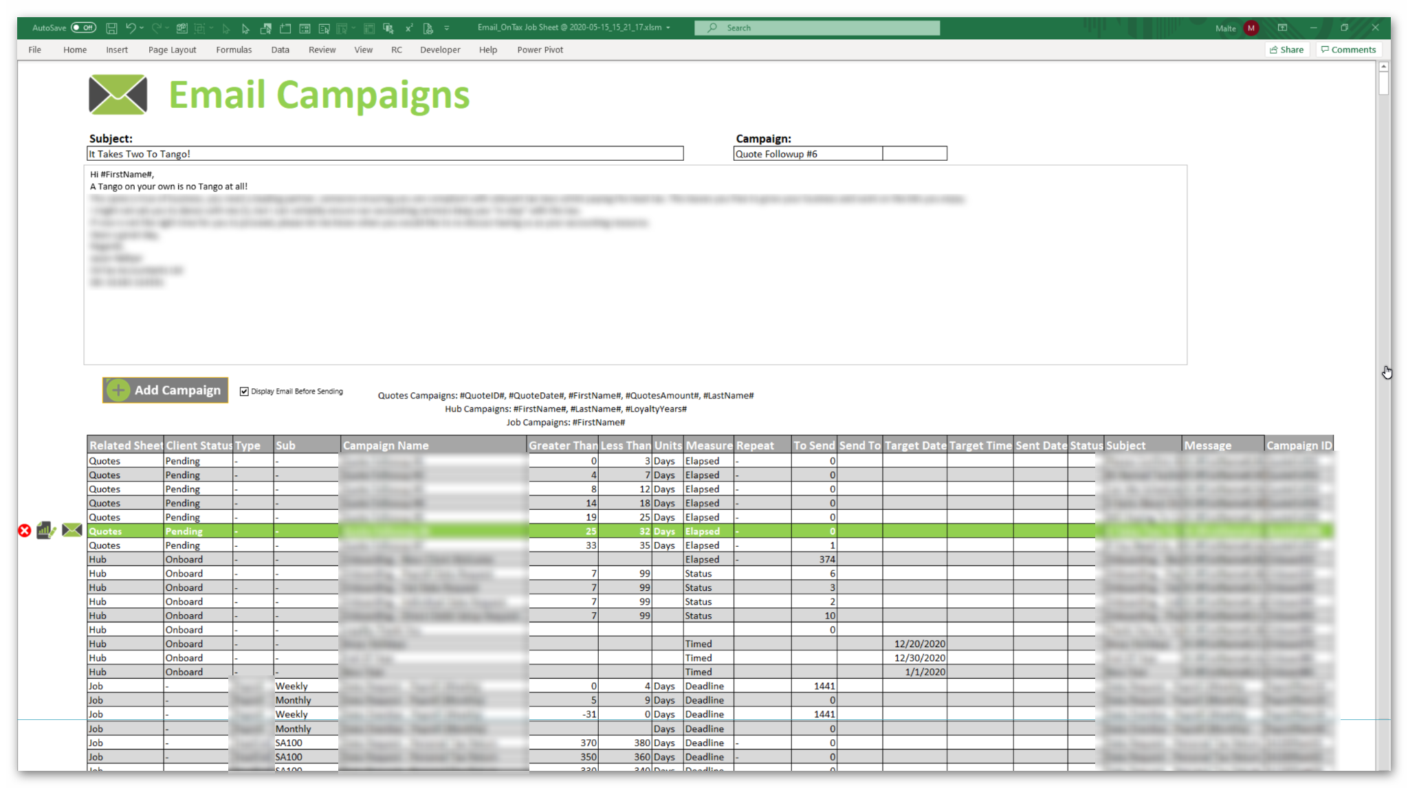Email Campaign Manager